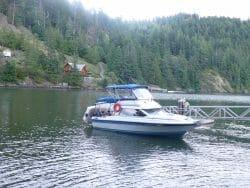 Boat nearby dock