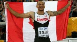 Андре Де Грассе, канадский легкоатлет-спринтер, выиграл бронзу в Рио. Усейн Болт пришел первым. Первая мужская медаль Канады на Олимпиаде в Рио 2016/ Наш Ванкувер