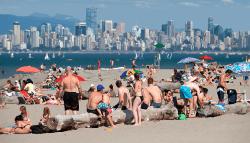 жаркая погода в Ванкувере 15 августа