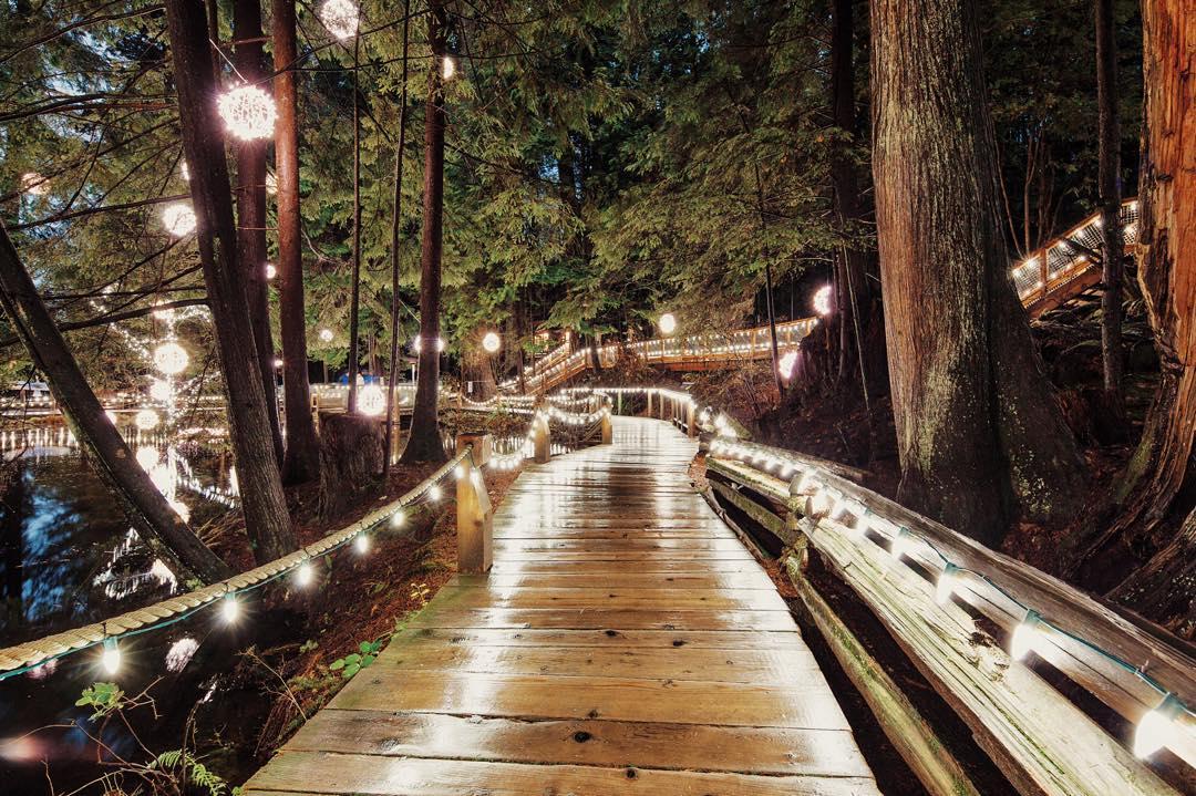 Рождество Ванкувер, подвесной мост Капилано