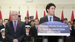 Джастин Трюдо, океан, ВАнкувер Канада, план правительства
