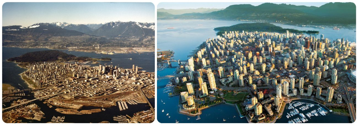 Ванкувер, фото Ванкувер, Ванкувер Канада, город до и после