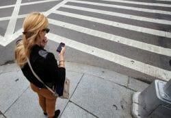 запрет, телефон, пешеход, Канады, Ванкувер, Торонто