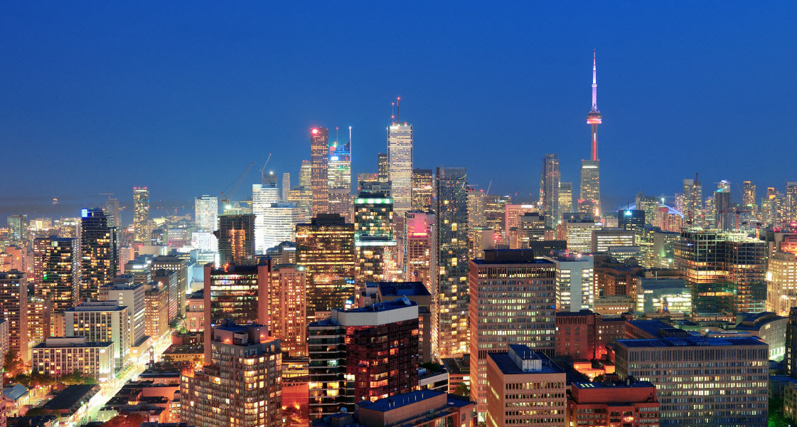 Ночной Торонто,лучшие фотографии Канады,Канада, переезд в Торонто