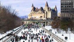 каток Ридо, Оттава Канада, развлечения в Канаде, туризм