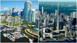 сравнение Торонто и Ванкувер, рейтинг, недоступное жилье, Канада недвижимость, Demographia.