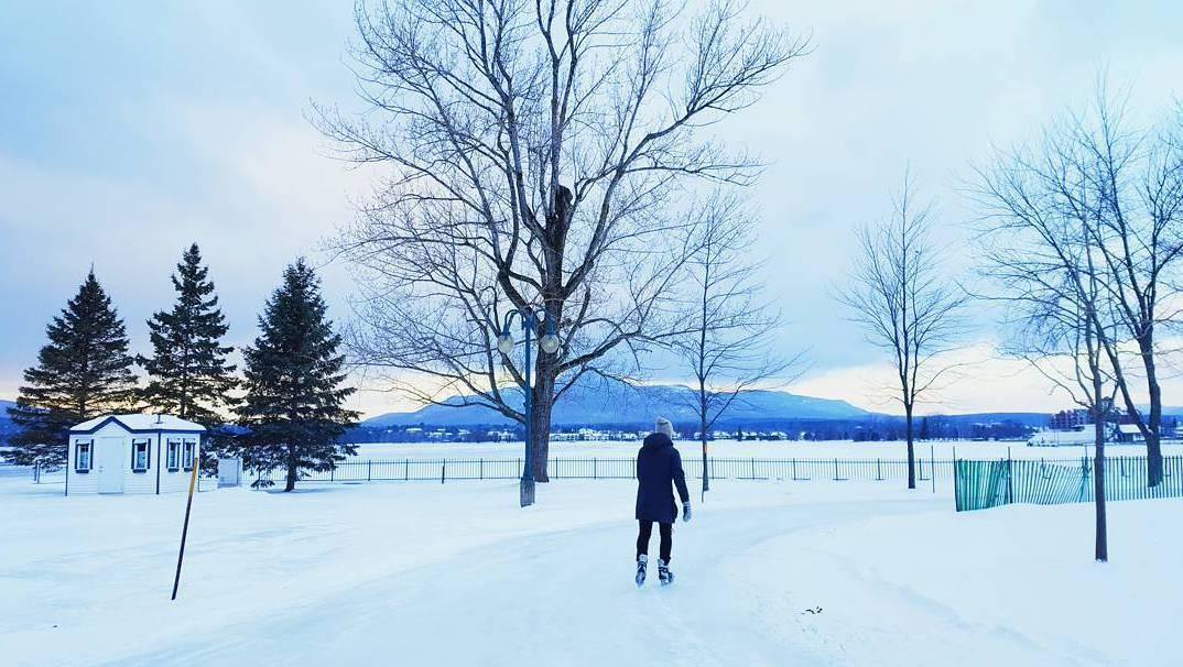 Канада коньки,хоккей, Magog Skating Trail
