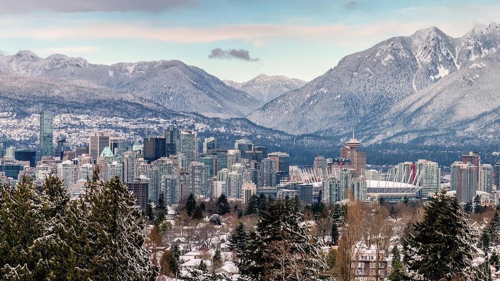 Ванкувер Канада, красивая фотография, вид на Ванкувер, 2017 год