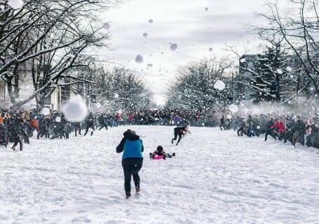 рекордное количество снега. Ванкувер Канада