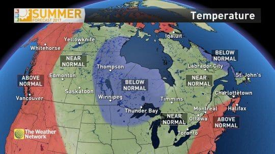 погода в Канаде, прогноз погоды в Канаде на лето 2017