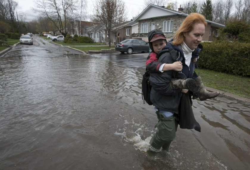 наводнение в Квебеке (Монреаль) май 2017