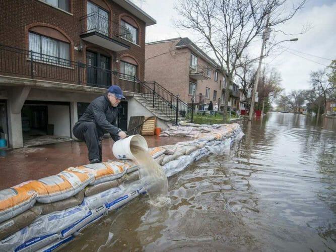 наводнение в Канаде (Монреаль)