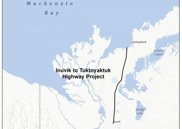 дорога к арктическому океану в Канаде