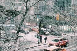 снежная буря в Ванкувере 2017