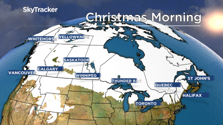 Рождество в Канаде- прогноз синоптиков
