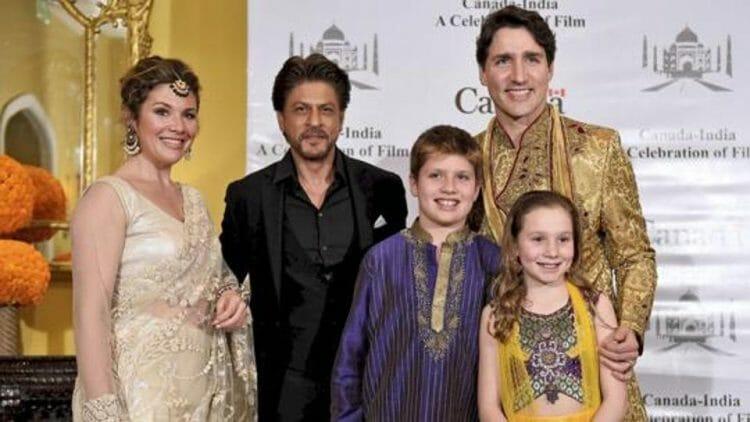 Трюдо с семьей в Индии